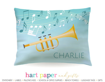 Trumpet Personalized Pillowcase Pillowcases - Everything Nice