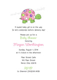 Polka Dot Turtle Party Invitation • Baby Shower Birthday • Any Colors