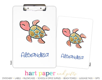 Turtle Personalized Clipboard School & Office Supplies - Everything Nice