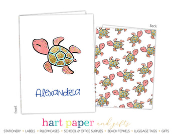Sea Turtle Personalized 2-Pocket Folder School & Office Supplies - Everything Nice
