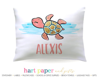 Turtle Personalized Pillowcase Pillowcases - Everything Nice