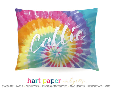 Tie Dye Personalized Pillowcase Pillowcases - Everything Nice