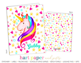 Rainbow Unicorn c Personalized 2-Pocket Folder School & Office Supplies - Everything Nice