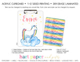 Rainbow Unicorn b Personalized Clipboard School & Office Supplies - Everything Nice