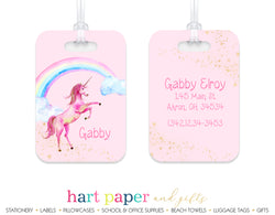Rainbow Unicorn Luggage Bag Tag