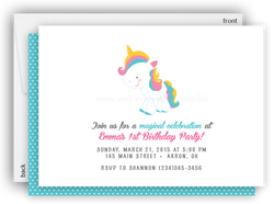 Rainbow Unicorn Party Invitation • Baby Shower Birthday • Any Colors