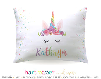 Rainbow Unicorn Horn Personalized Pillowcase Pillowcases - Everything Nice