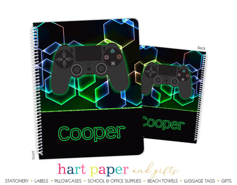 Video Game  Personalized Notebook or Sketchbook School & Office Supplies - Everything Nice