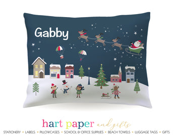 Christmas Village Personalized Pillowcase Pillowcases - Everything Nice
