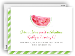 Watermelon Party Invitation • Baby Shower Birthday Picnic • Any Colors