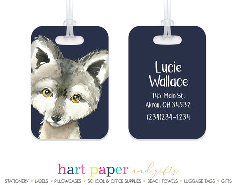 Wolf Luggage Bag Tag School & Office Supplies - Everything Nice