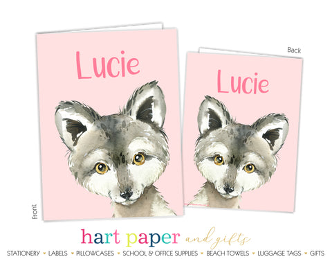 Wolf Personalized 2-Pocket Folder School & Office Supplies - Everything Nice
