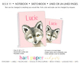 Wolf Personalized Notebook or Sketchbook School & Office Supplies - Everything Nice
