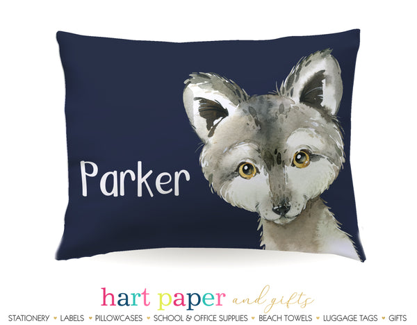 Wolf Personalized Pillowcase Pillowcases - Everything Nice