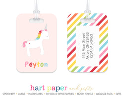 Rainbow Unicorn c Luggage Bag Tag
