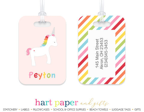 Rainbow Unicorn c Luggage Bag Tag School & Office Supplies - Everything Nice