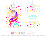 Rainbow Unicorn Luggage Bag Tag School & Office Supplies - Everything Nice