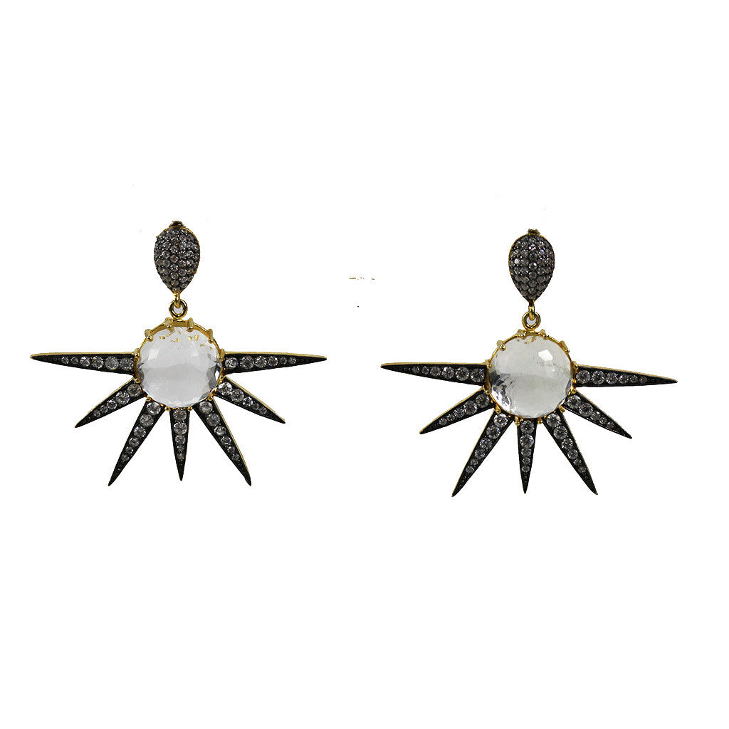 Pave Spike Earrings - Magnolia Jewels & More