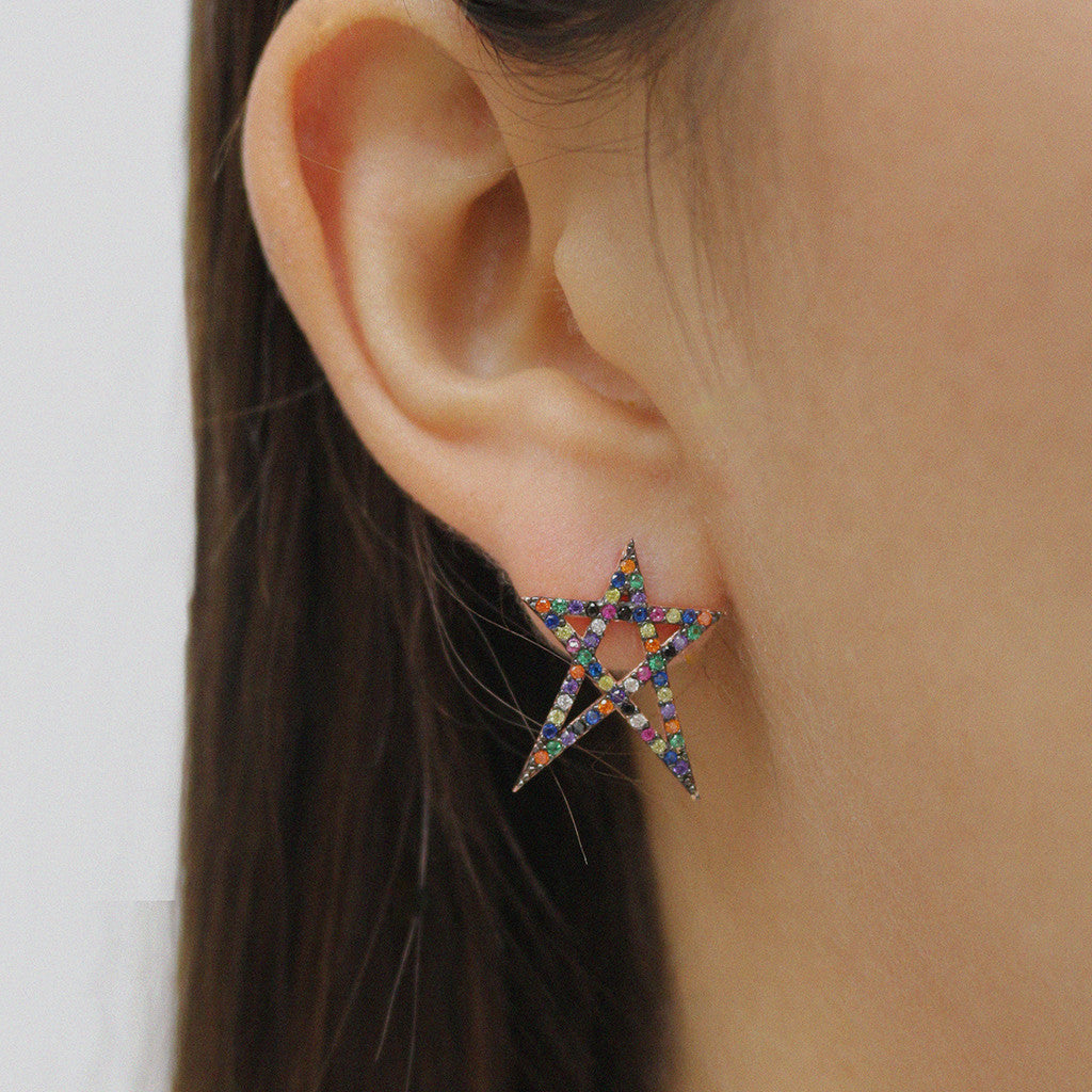Small Multi Color Star Earrings - Magnolia Jewels & More
