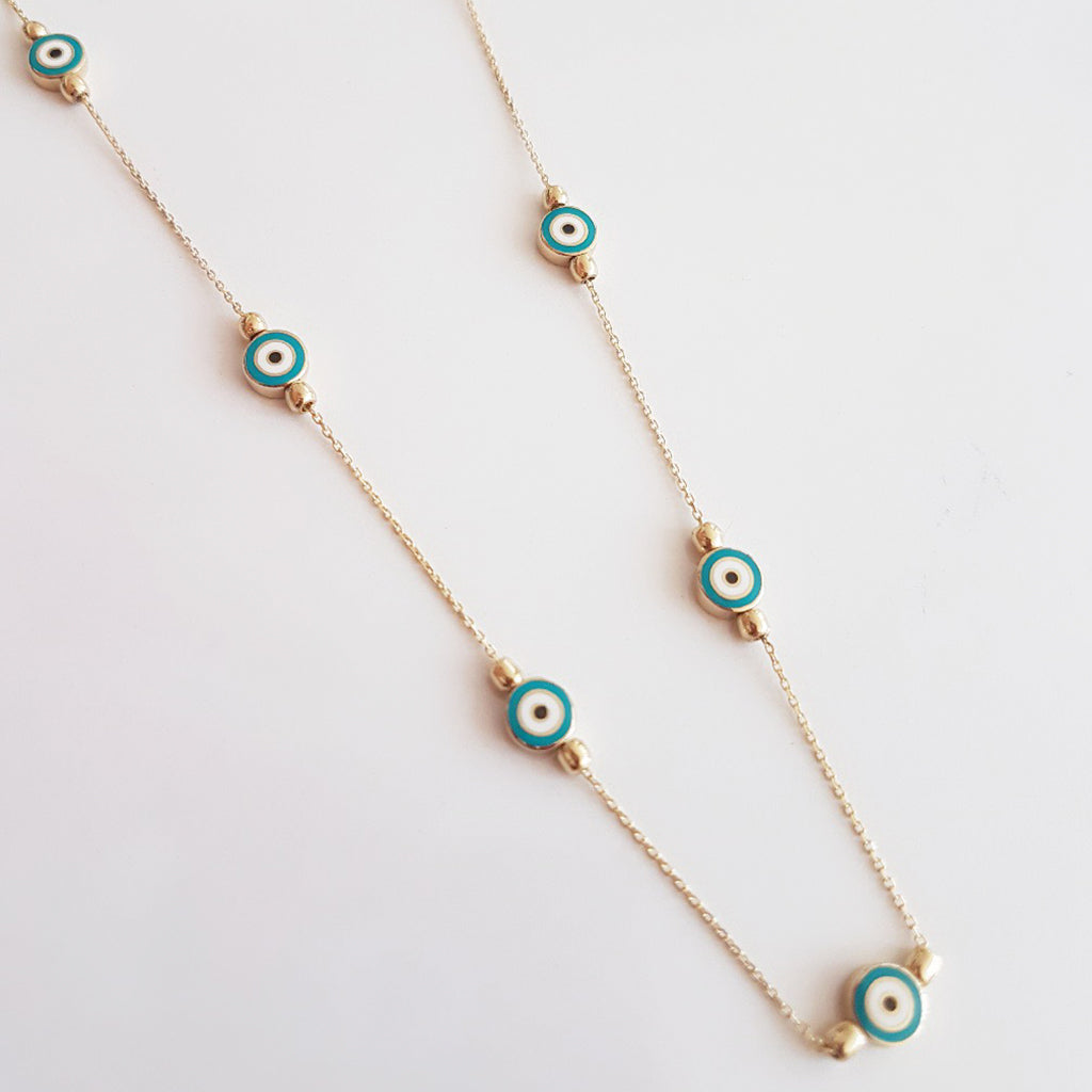 Turquoise Evil Eye Necklace - Magnolia Jewels & More