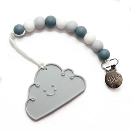 Getting Sew Crafty - Clip on Teether - Gray Cloud