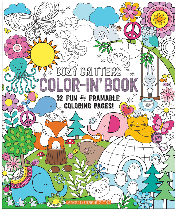Color-in's Book Cozy Critters - Magnolia Jewels & More