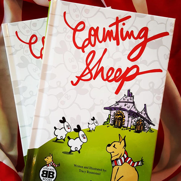 "Little Boo Hard Cover Children's Book: ""Counting Sheep"""