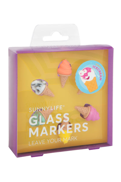 Ice Cream Glass Markers - Magnolia Jewels & More