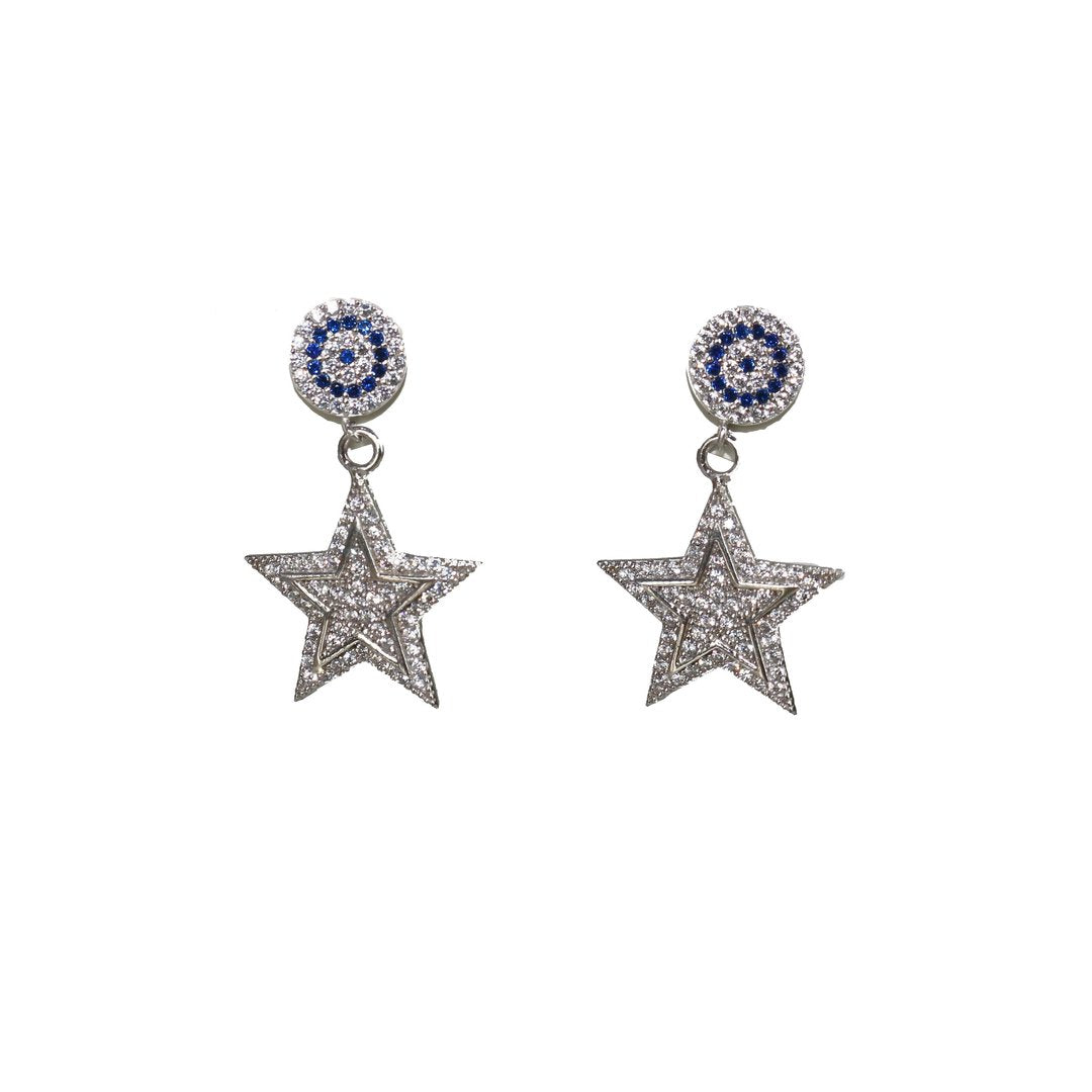 Eye with Flashy Star Earrings - Magnolia Jewels & More