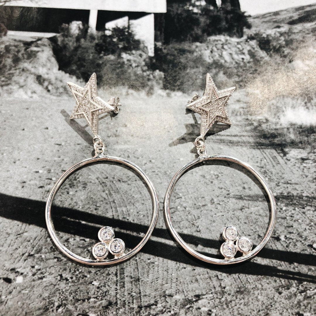 Star Eternity Earrings - Magnolia Jewels & More