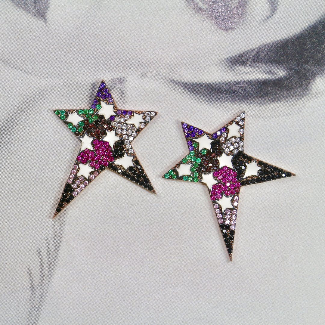 Multi Stars Earrings - Magnolia Jewels & More