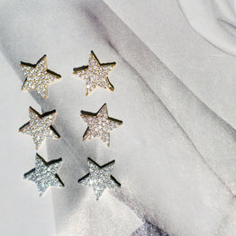 Small Flashy Star Earrings - Magnolia Jewels & More