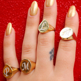 Engraved Pinky Ring - Magnolia Jewels & More
