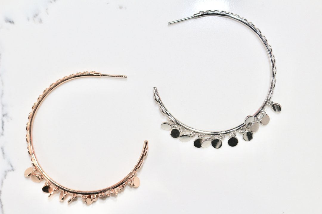 Dancing Hoop Earrings - Magnolia Jewels & More
