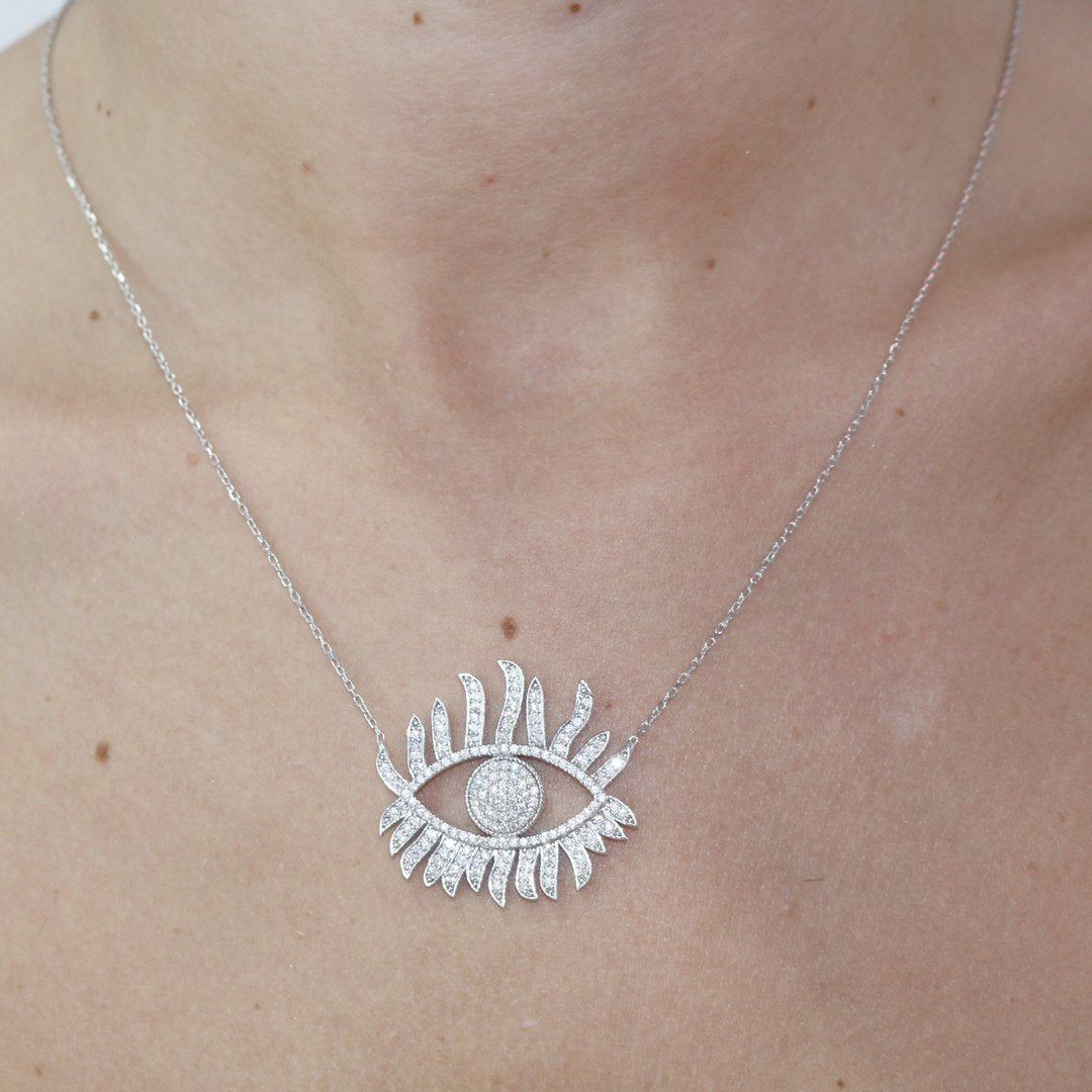 Sunshine Evil Eye Necklace - Magnolia Jewels & More