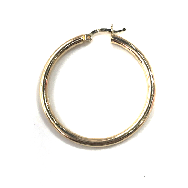 14k Yellow Gold Large Polished Hoops - Magnolia Jewels & More