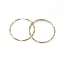 Thin Hoop Earrings 14k Yellow Gold - Magnolia Jewels & More