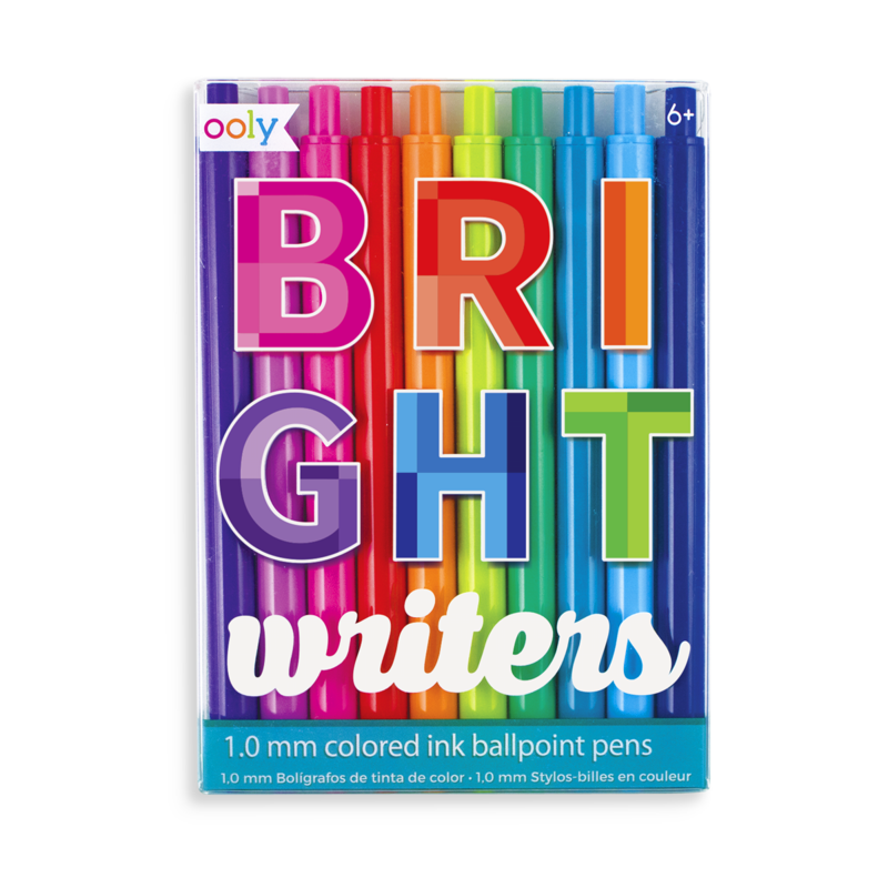 bright writers colored pens - set of 10