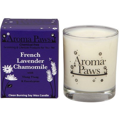 Candle in glass W/Gift Box French Lavender Chamomile