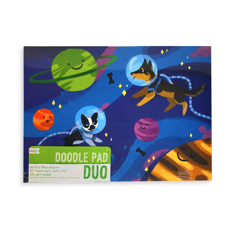 Doodle Pad duo Sketchbooks - adventurous pets - set of 2