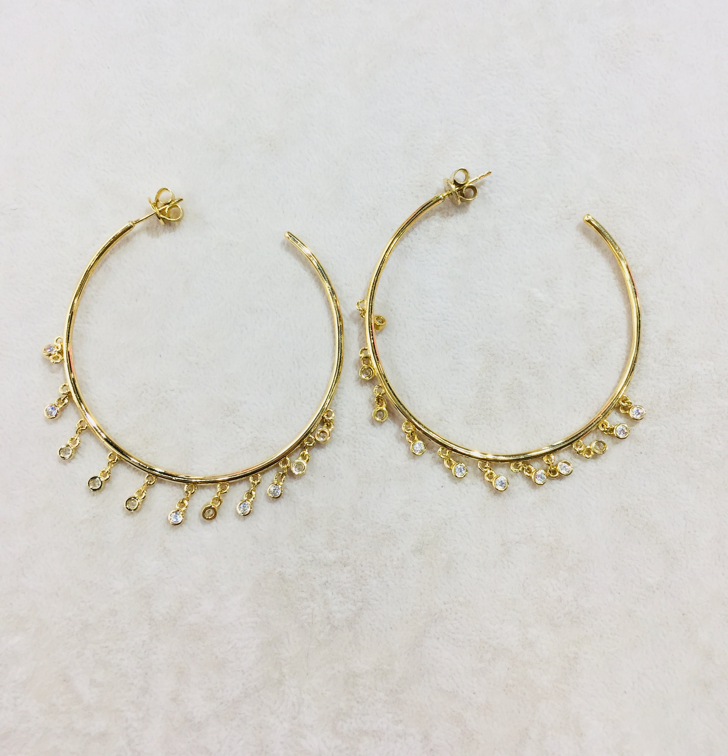 Tiny Love Hoop Earrings