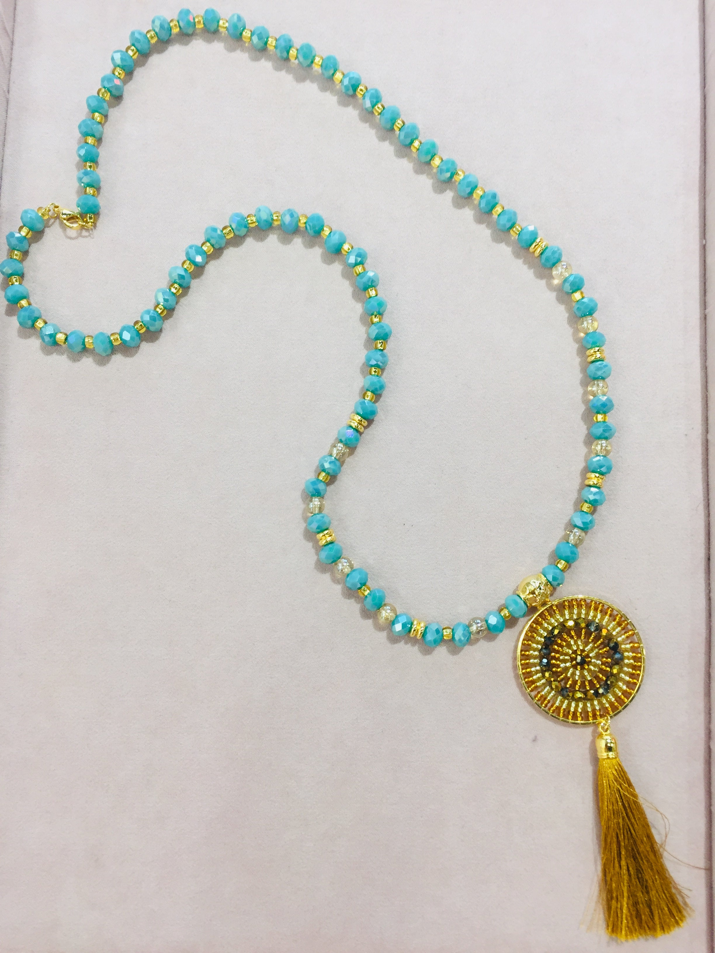 Moma's Murano Turquoise Necklace