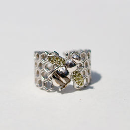 Stoned Bee Comb Ring - Magnolia Jewels & More
