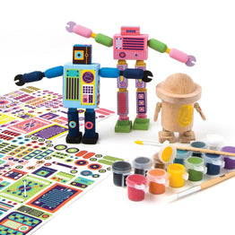 Wooden Robot Kit - Magnolia Jewels & More