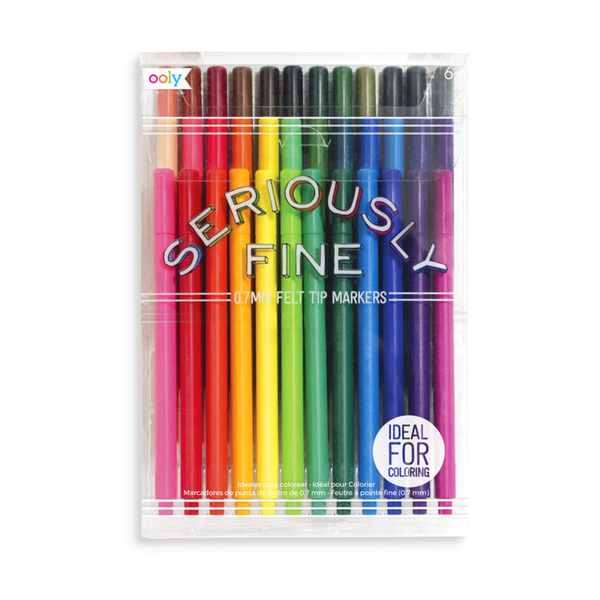 Seriously Fine felt tip markers