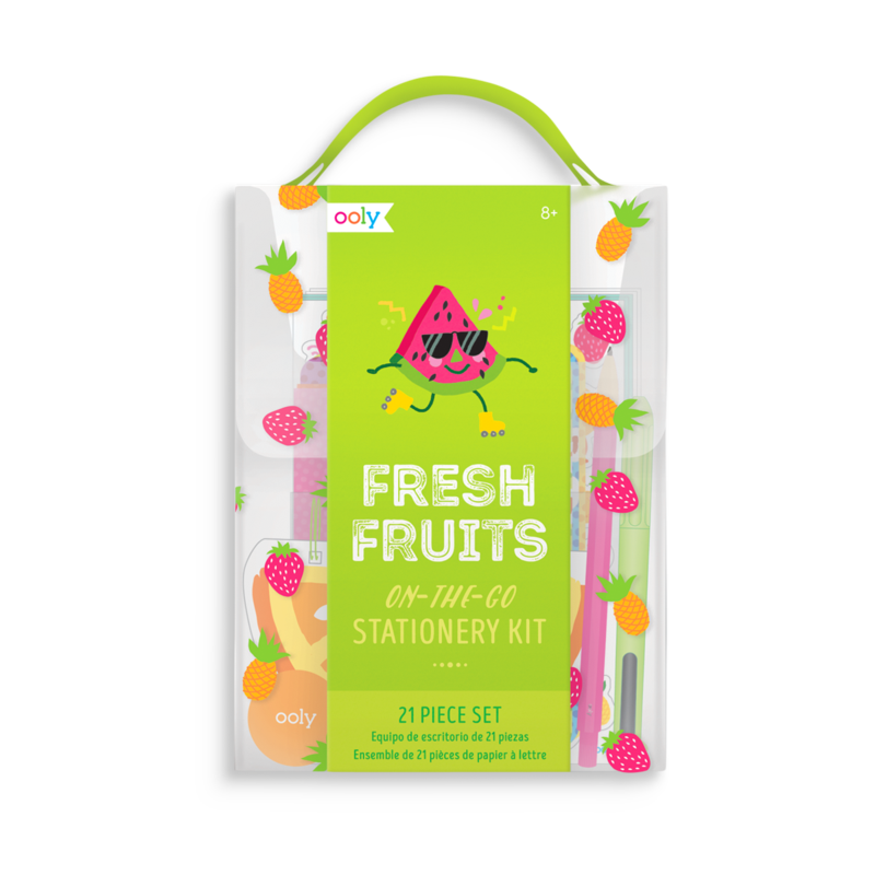 On The Go Stationery kit Fresh Fruits