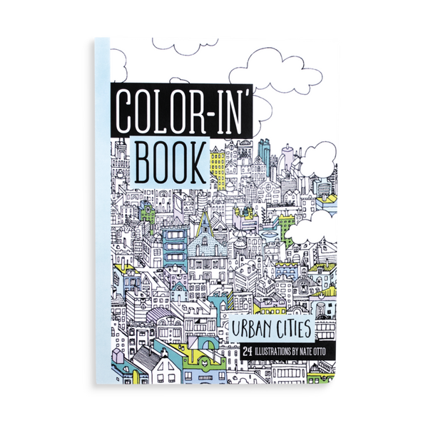 Color-In  Book Urban Cities