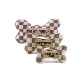 White Chewy Vuiton Toy