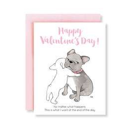 French Bulldog Valentines Card - Magnolia Jewels & More