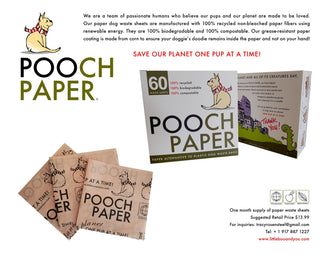Pooch Paper Dog Waste bags